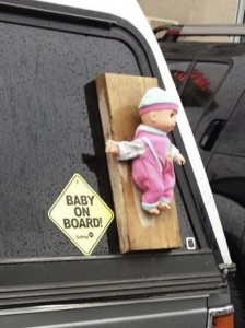 Baby on board - literal version 2. Click for complete picture.