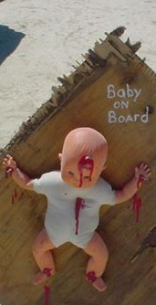 Baby on board - literal version. Click for complete picture.
